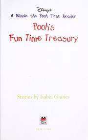 Cover of: Pooh's fun time treasury