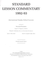 Cover of: Standard Lesson Commentary 1992-93 | James Fehe