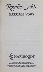 Cover of: Marriage vows | Rosalie Ash