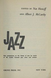 Cover of: Jazz