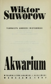 Cover of: Akwarium