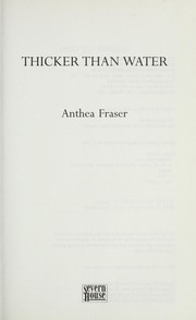 Cover of: Thicker than water