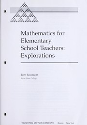 Cover of: Mathematics for elementary school teachers