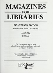 Cover of: Magazines for libraries | William A. Katz