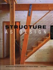 Cover of: Structure as Design | Isabel Allen
