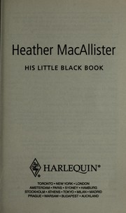 Cover of: His little black book | Heather MacAllister