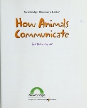 Cover of: How animals communicate