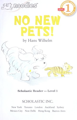 No new pets! by Hans Wilhelm