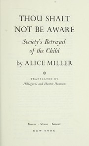 Cover of: Thou shalt not be aware : society