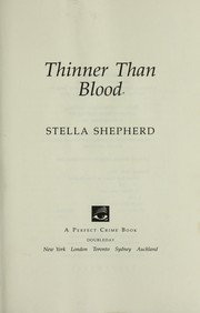 Cover of: Thinner than blood
