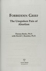 Cover of: Forbidden grief