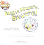 Cover of: Bubble blowers, beware!