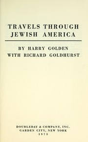Cover of: Travels through Jewish America
