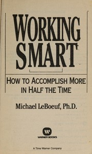 Cover of: Working smart