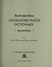 Cover of: The New York times crossword puzzle dictionary | Tom Pulliam