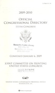 Cover of: Official Congressional directory, 2009-2010 | United States. Congress 2009)