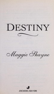 Cover of: Destiny | Maggie Shayne