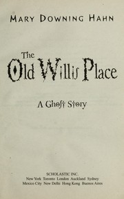 Cover of: The old Willis place