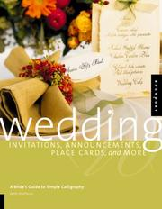 Cover of: Wedding Invitations, Announcements, Place Cards, and More | Bette Matthews