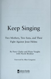 Cover of: Keep singing