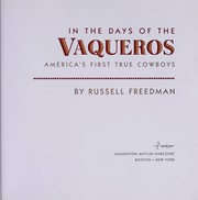 Cover of: In the days of the vaqueros