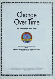 Cover of: Change over time | Denver Museum of Natural History