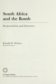 Cover of: South Africa and the bomb : responsibility and deterrence |