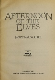 Cover of: Afternoon of the elves