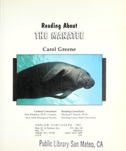Cover of: Reading about the manatee | Carol Greene