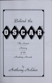Cover of: Behind the Oscar