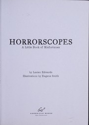 Cover of: Horrorscopes | Lucien Edwards