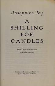 Cover of: A shilling for candles