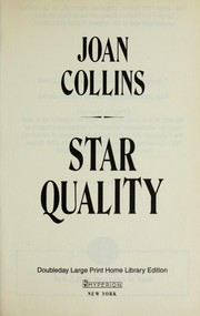 Cover of: Star quality | Joan Collins