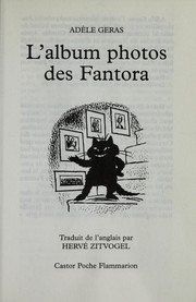 Cover of: L'album photos des Fantora | Ade  le Geras