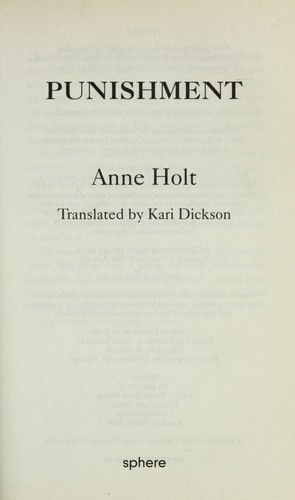 Punishment by Holt, Anne