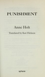 Cover of: Punishment | Holt, Anne