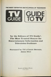 Cover of: TV guide | by the editors of TV guide ; foreword by Adam West