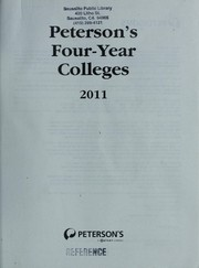 Cover of: Peterson's four-year colleges, 2011 | Peterson's (Firm : 2006- )