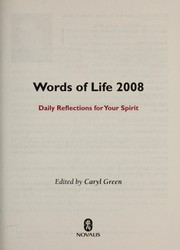 Cover of: Words of life 2008 | Caryl Green