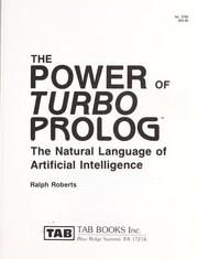Cover of: The power of Turbo prolog: the natural language of artificial intelligence