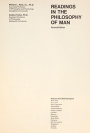 Cover of: Readings in the philosophy of man | W. Kelly