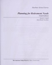Cover of: Planning for retirement needs