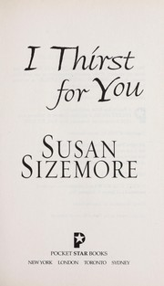 Cover of: I thirst for you