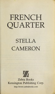 Cover of: French quarter | Stella Cameron