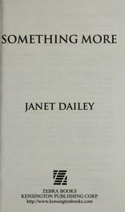 Cover of: Something more | Janet Dailey