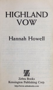Cover of: Highland vow | Hannah Howell