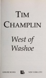 Cover of: West of Washoe