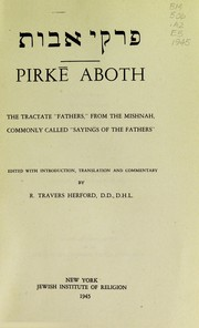 Cover of: Pirk♯ Aboth