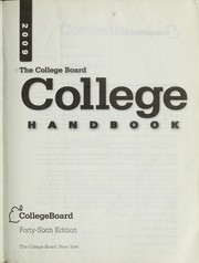 Cover of: The College Board college handbook, 2009 | College Entrance Examination Board