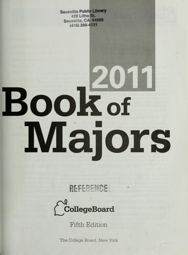 Book of majors 2011 by College Entrance Examination Board